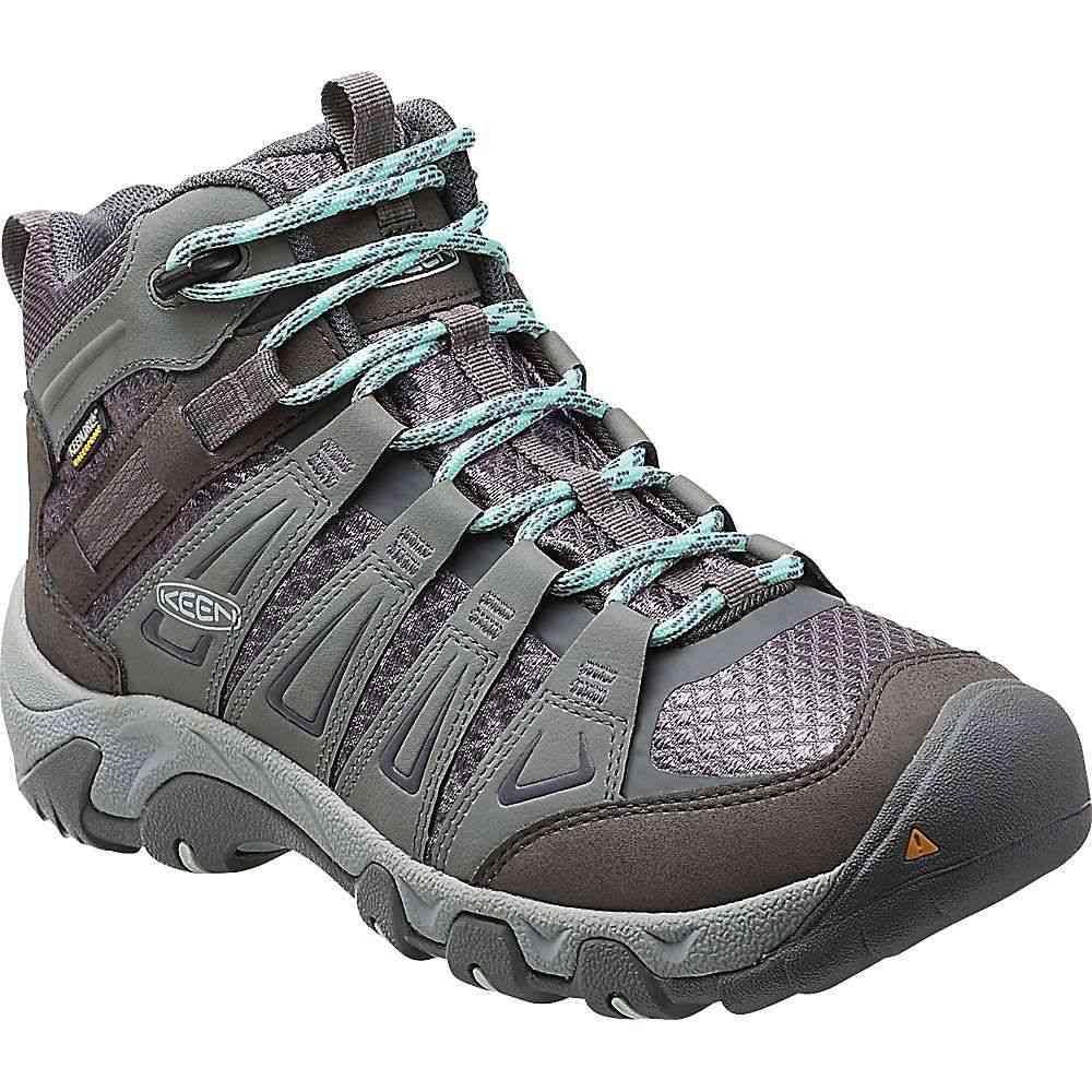 キーン Keen レディース ハイキング・登山 ブーツ シューズ・靴【Oakridge Mid Waterproof Boot】Grey/Shark