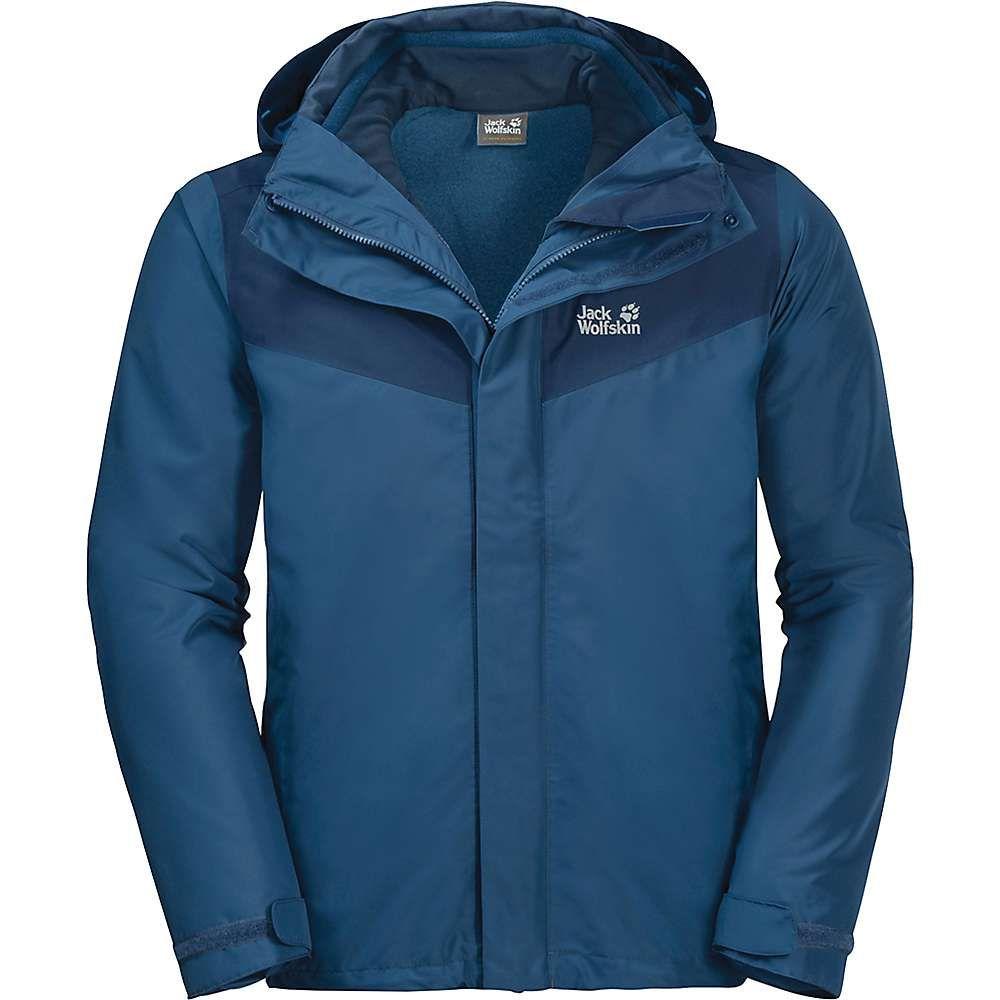 ジャックウルフスキン Jack Wolfskin メンズ スキー・スノーボード ジャケット アウター【Arland 3in1 Jacket】Indigo Blue