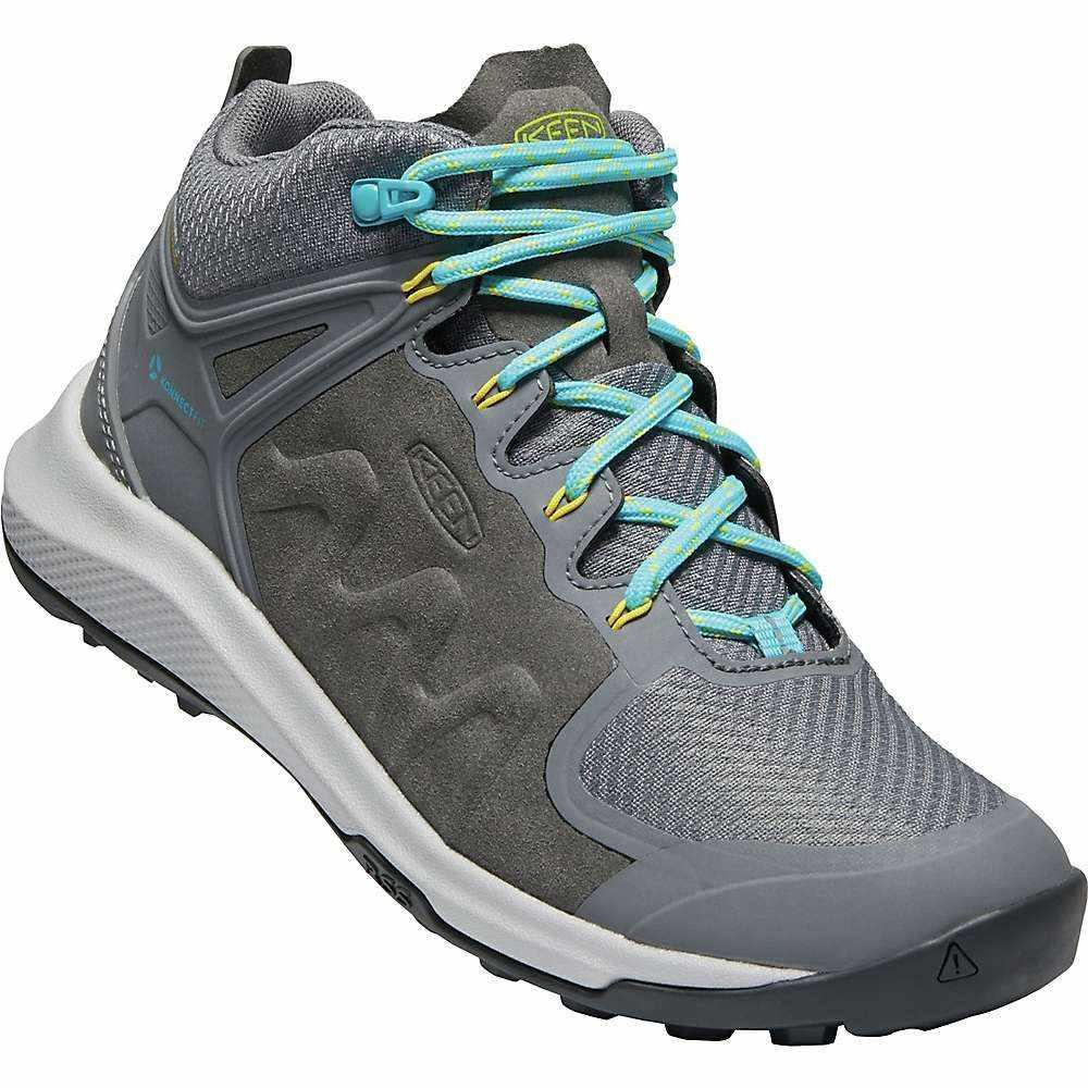 キーン Keen レディース ハイキング・登山 ブーツ シューズ・靴【Explore Mid WP Boot】Steel Grey/Bright Turquoise