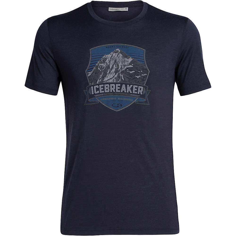 アイスブレーカー Icebreaker メンズ ハイキング・登山 トップス【Tech Lite SS Crewe Everest Crest】Midnight Navy