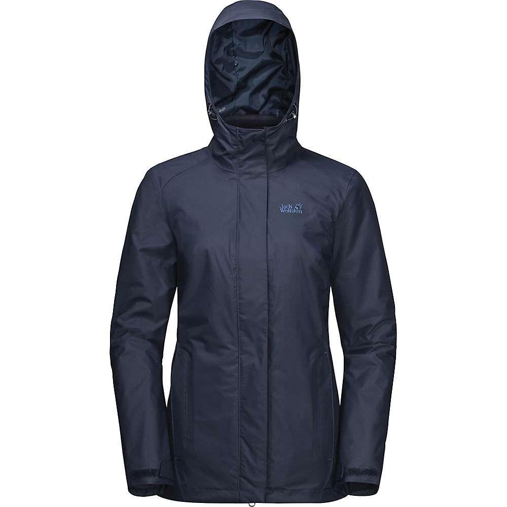 ジャックウルフスキン Jack Wolfskin レディース スキー・スノーボード ジャケット アウター【Iceland 3 In 1 Jacket】Midnight Blue