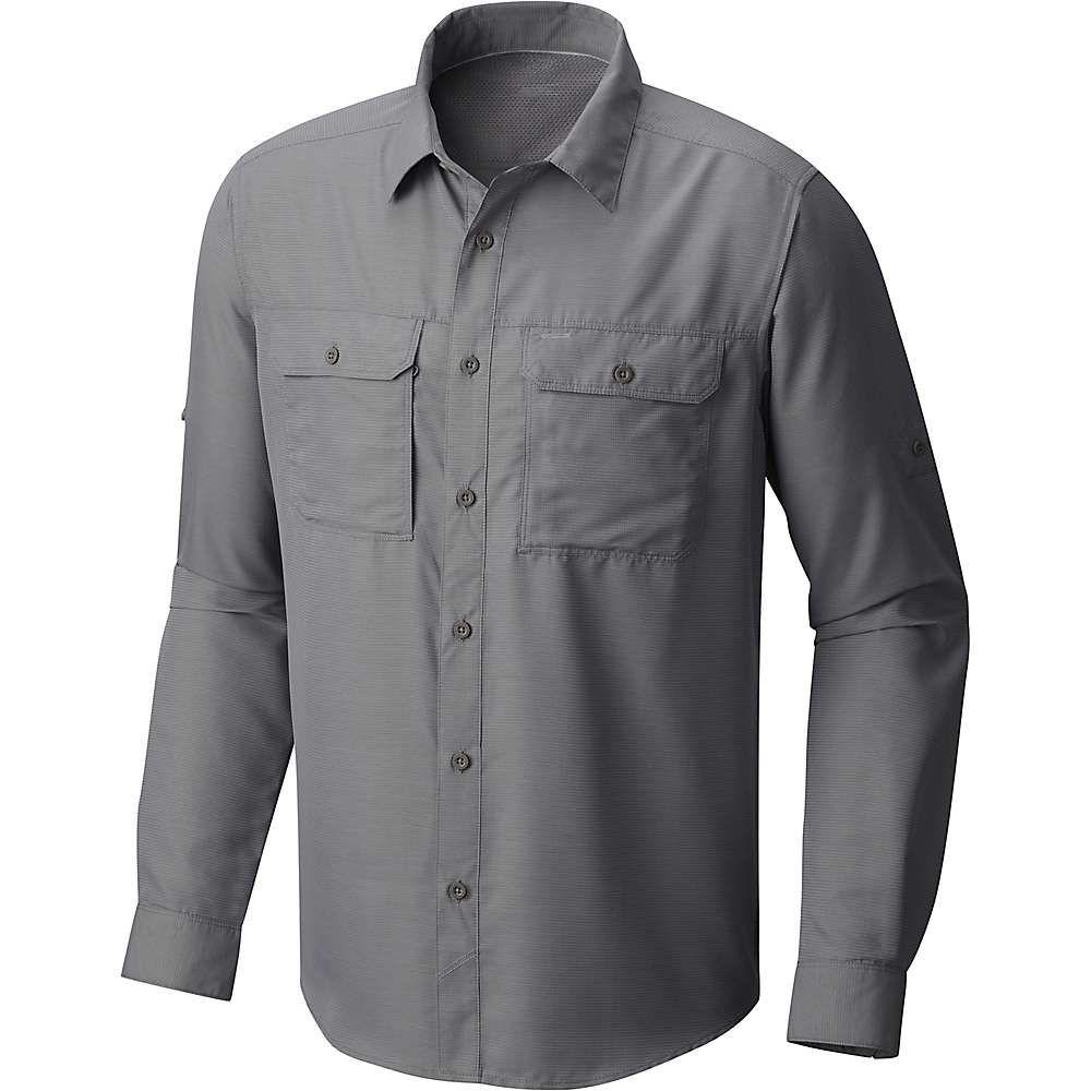 マウンテンハードウェア Mountain Hardwear メンズ ハイキング・登山 シャツ トップス【Canyon LS Shirt】Manta Grey