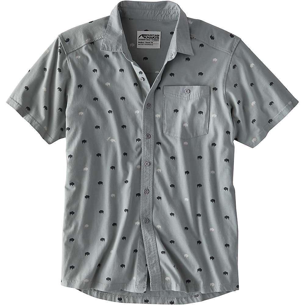 マウンテンカーキス Mountain Khakis メンズ ハイキング・登山 半袖シャツ トップス【Tatanka SS Shirt】Smoke Print