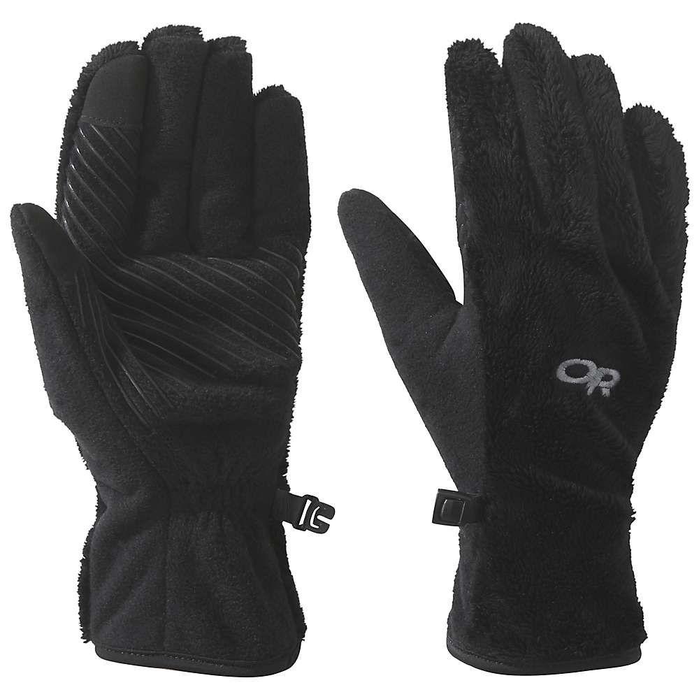 アウトドアリサーチ Outdoor Research レディース スキー・スノーボード グローブ【Fuzzy Sensor Glove】Black