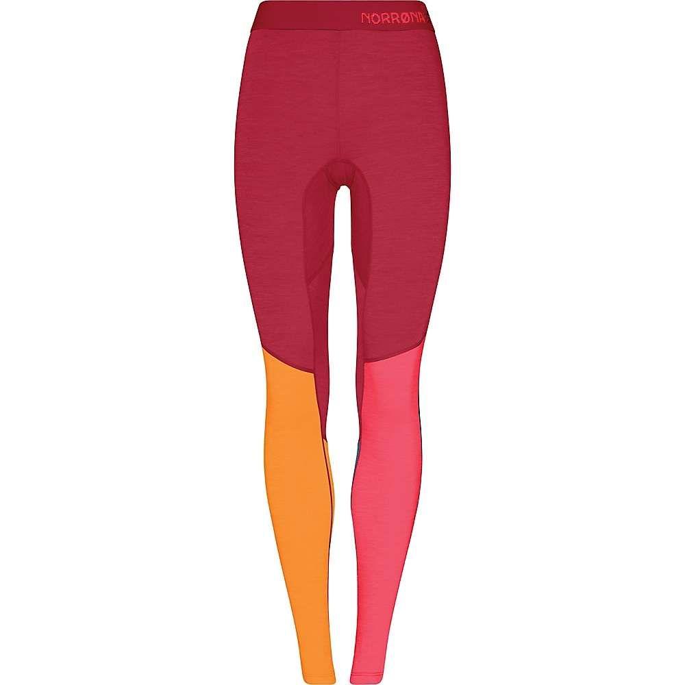 ノローナ Norrona レディース ヨガ・ピラティス ボトムス・パンツ【Equaliser Merino Longs】Crisp Ruby/Rhubarb