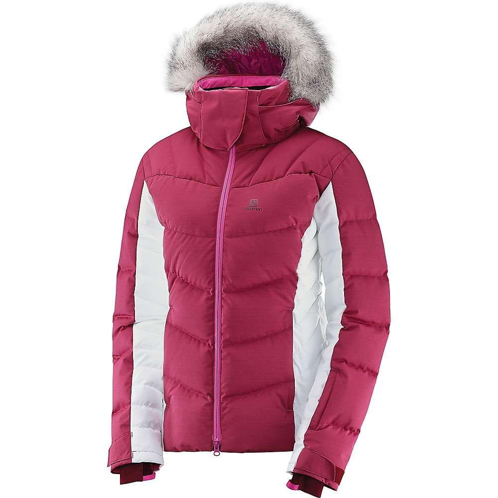 サロモン Salomon レディース スキー・スノーボード ジャケット アウター【Icetown Jacket】Beet Red/White