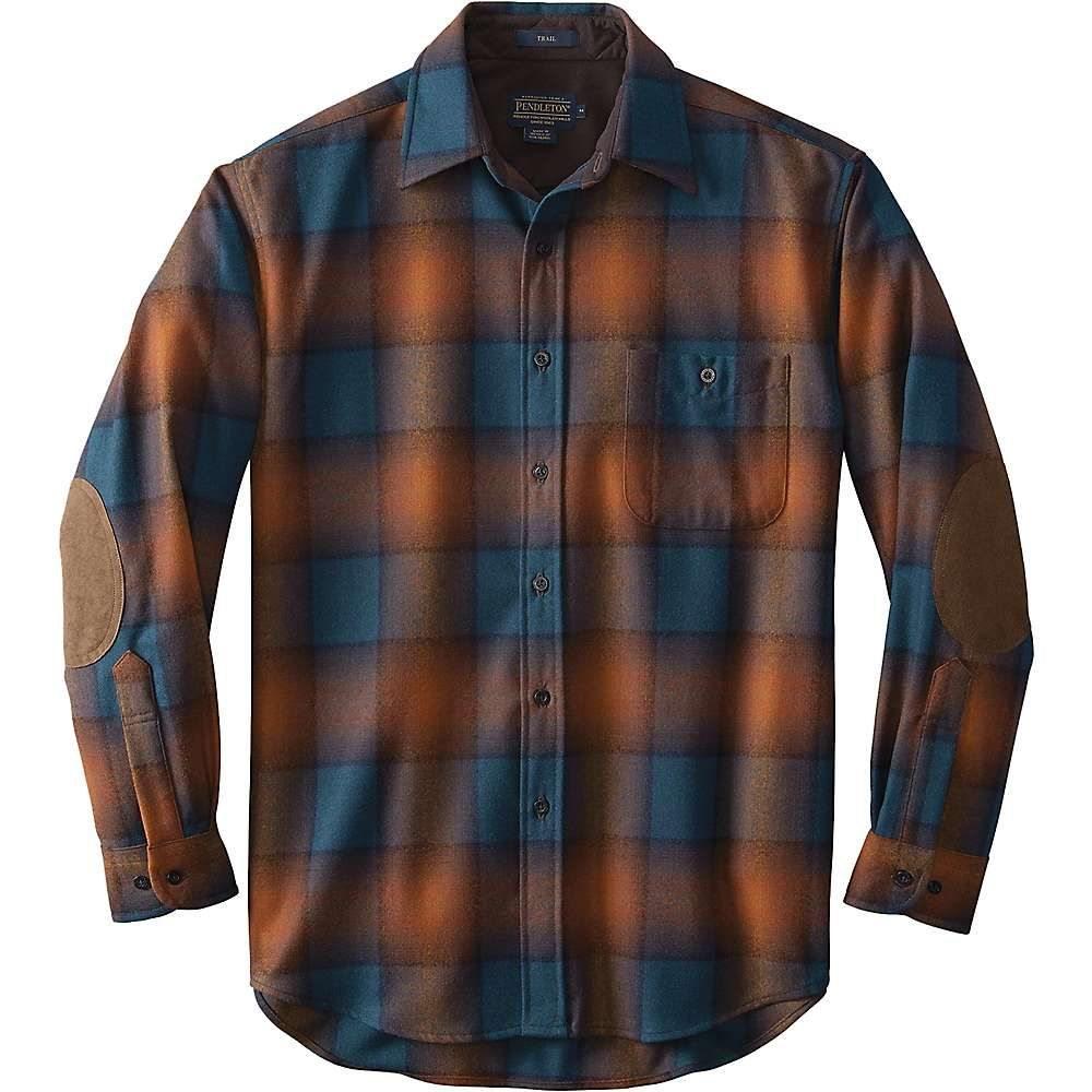 ペンドルトン Pendleton メンズ シャツ トップス【Long Sleeve Trail Shirt w/ Elbow Patch】Brown/Copper Ombre