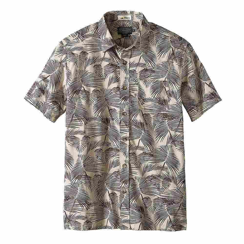 ペンドルトン Pendleton メンズ ハイキング・登山 トップス【Aloha Shirt】Tan Palm Leaf Print
