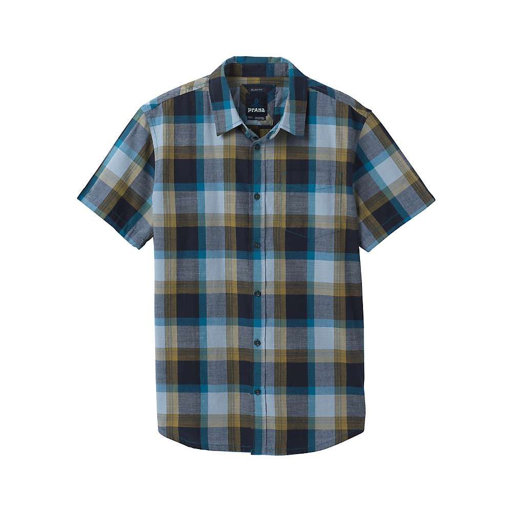 プラーナ Prana メンズ ハイキング・登山 トップス【Benton Shirt- Standard Tall】River Rock Blue