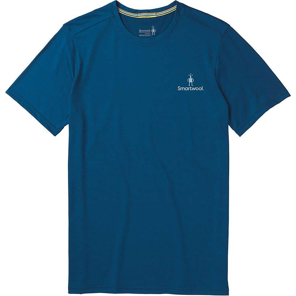 スマートウール Smartwool メンズ ハイキング・登山 ロゴTシャツ トップス【Merino Sport 150 Logo Tee】Alpine Blue