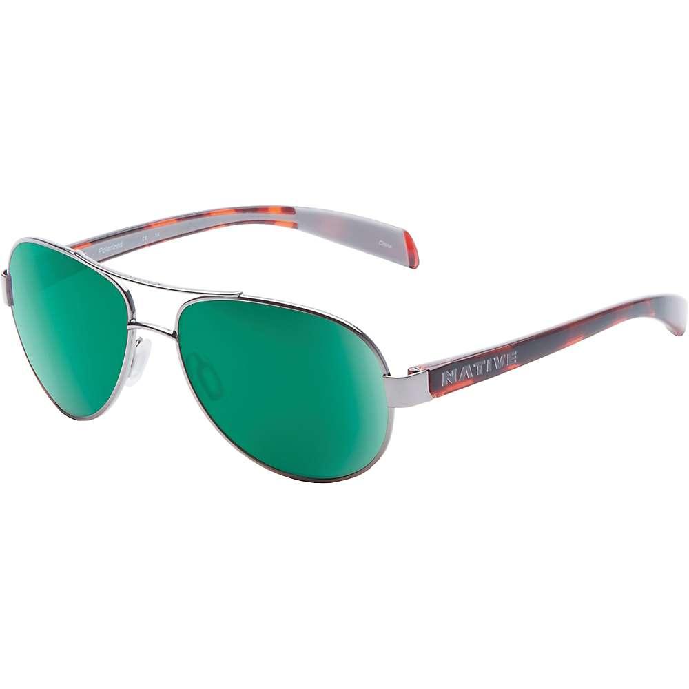 ネイティブ メンズ アクセサリー メガネ・サングラス【Native Haskill Polarized Sunglasses】Chrome / Maple Tort / Green Reflex Polarized