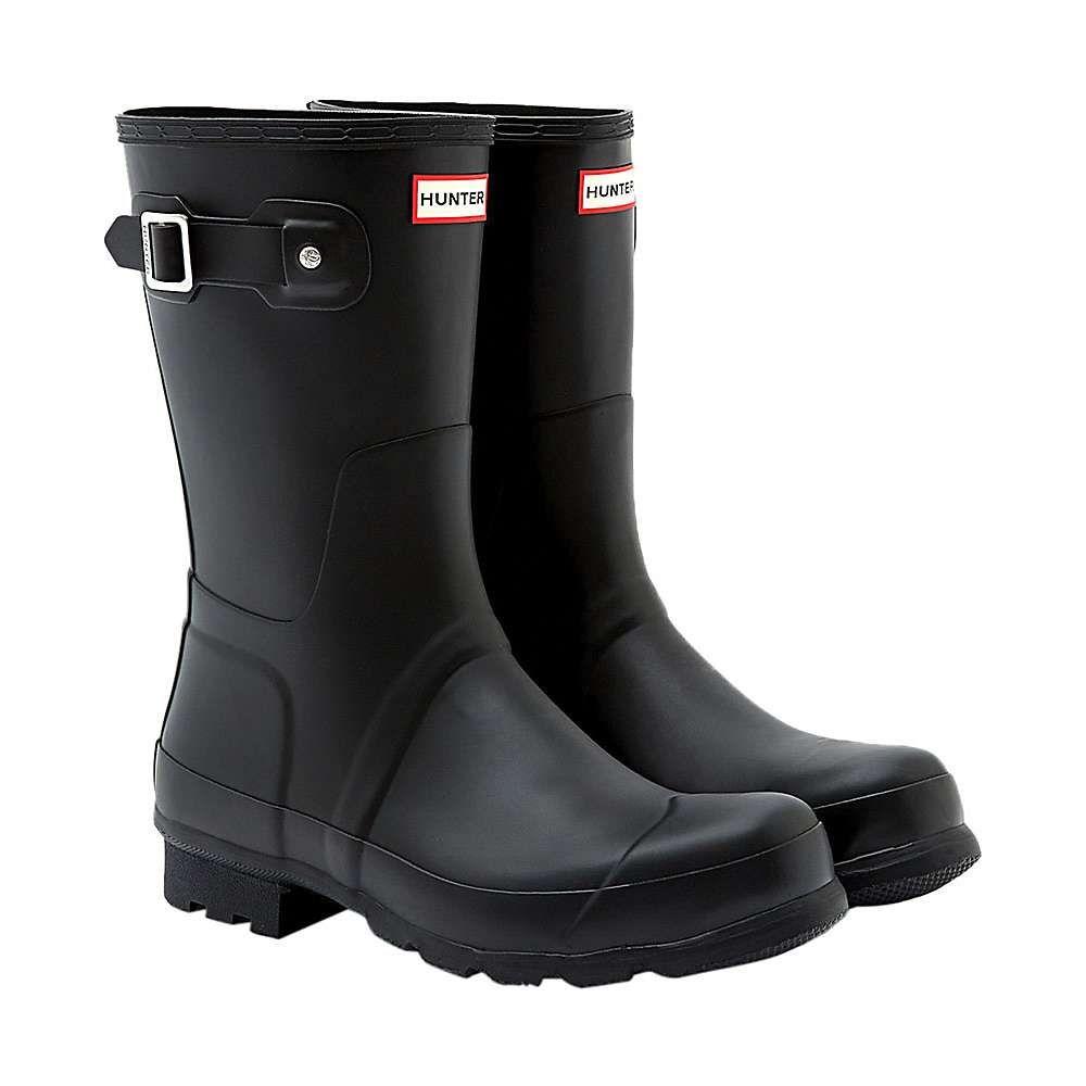 ハンター Hunter メンズ レインシューズ・長靴 シューズ・靴【Original Short Boot】Black