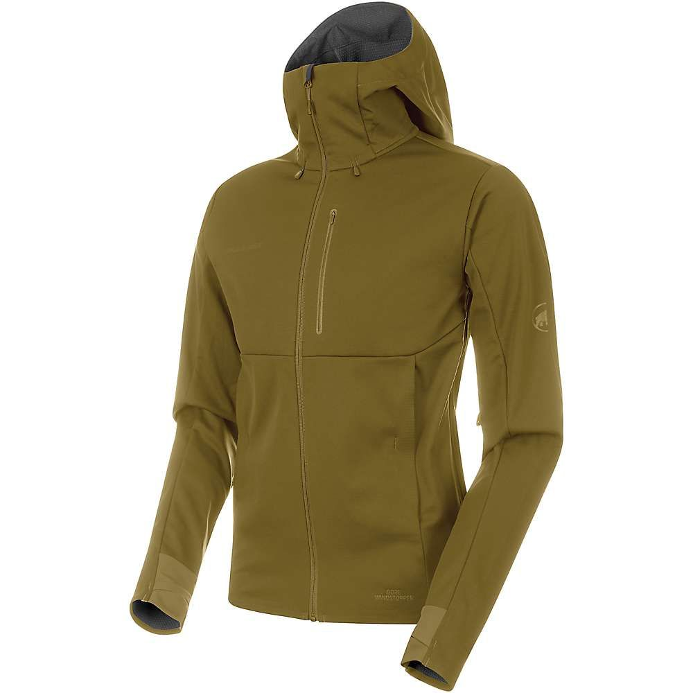 マムート Mammut メンズ ジャケット アウター【Ultimate V SO Hooded Jacket】Olive/Titanium Melange