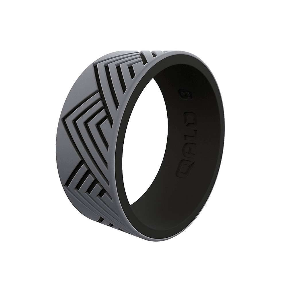 Qalo メンズ ハイキング・登山 【QALO Strata Mountain Ring】Grey/Black