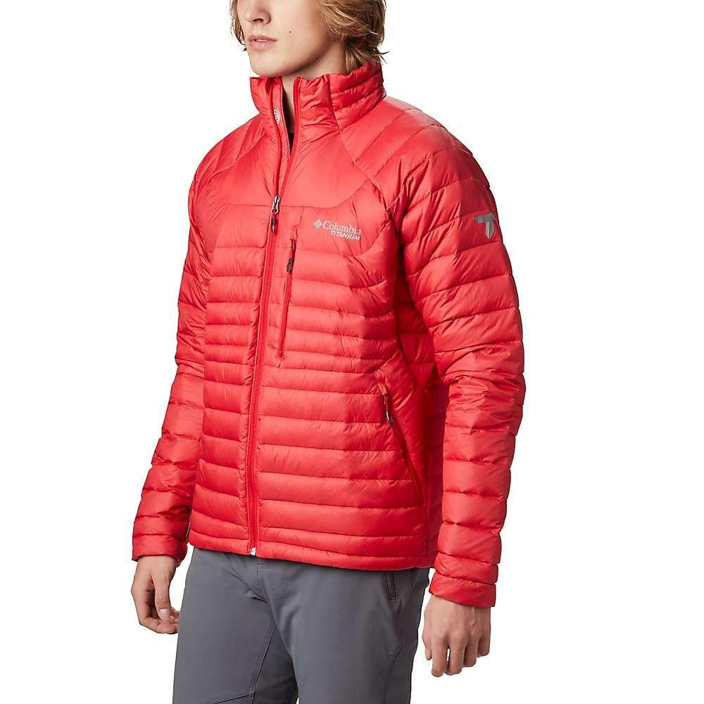 コロンビア Columbia メンズ ダウン・中綿ジャケット アウター【Titanium Mt. Defiance Down Jacket】Mountain Red