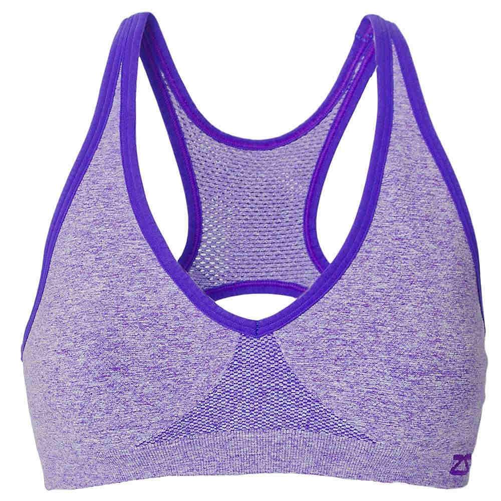 ゼンサー レディース トップス スポーツブラ【Zensah Racey Sports Bra】Heather Purple