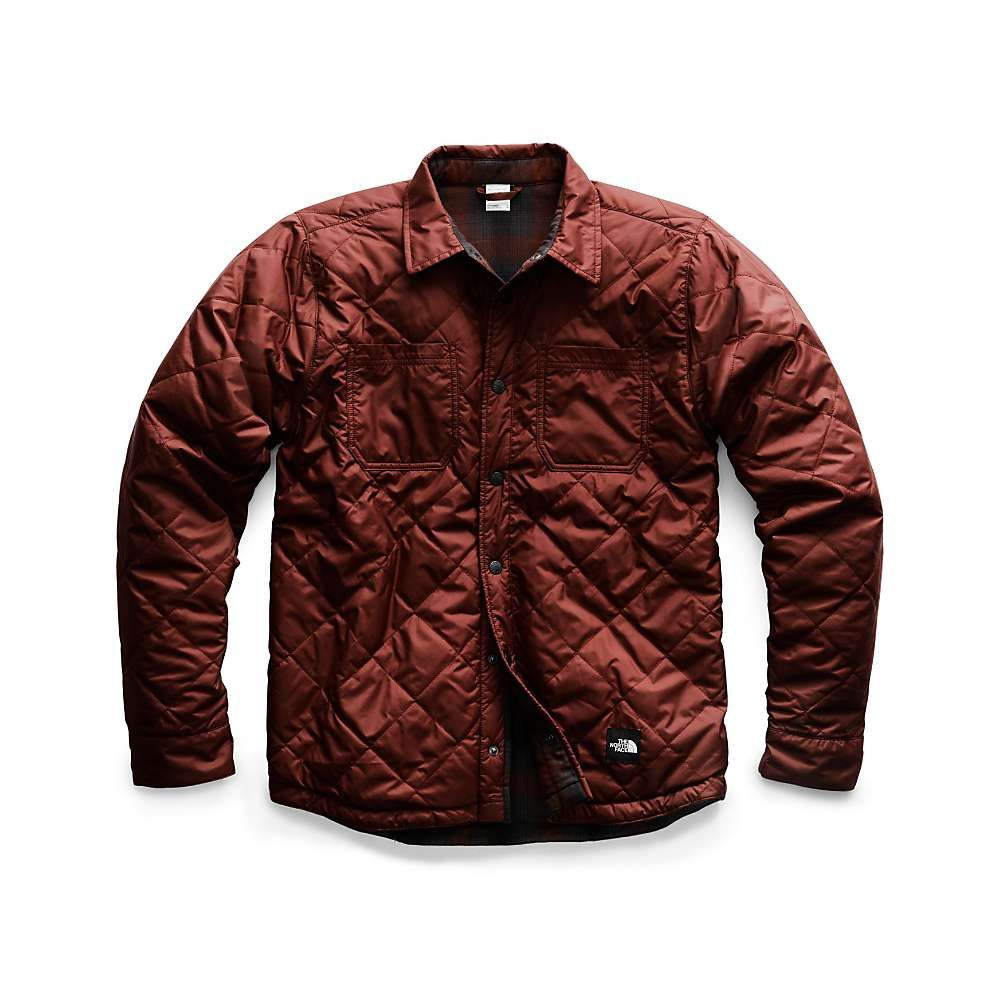 ザ ノースフェイス The North Face メンズ ジャケット アウター【fort point insulated flannel jacket】Sequoia Red