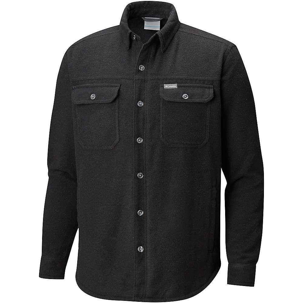 コロンビア Columbia メンズ ジャケット シャツジャケット アウター【windward iv shirt jacket】Black