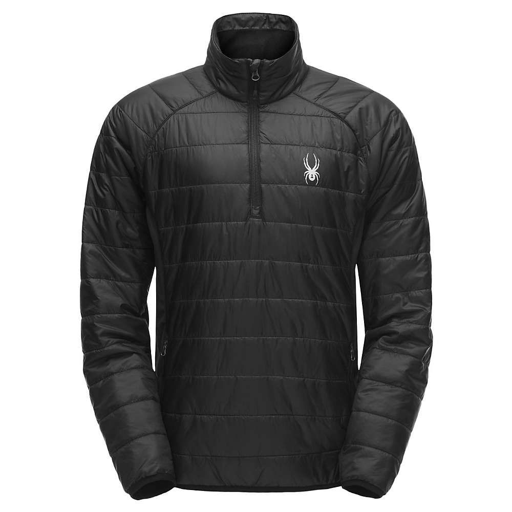 スパイダー Spyder メンズ ジャケット アウター【glissade half zip insulator jacket】Black/Black/Black