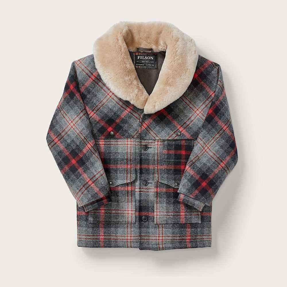 フィルソン Filson メンズ コート アウター【lined wool packer coat】Red/Grey Multi Plaid