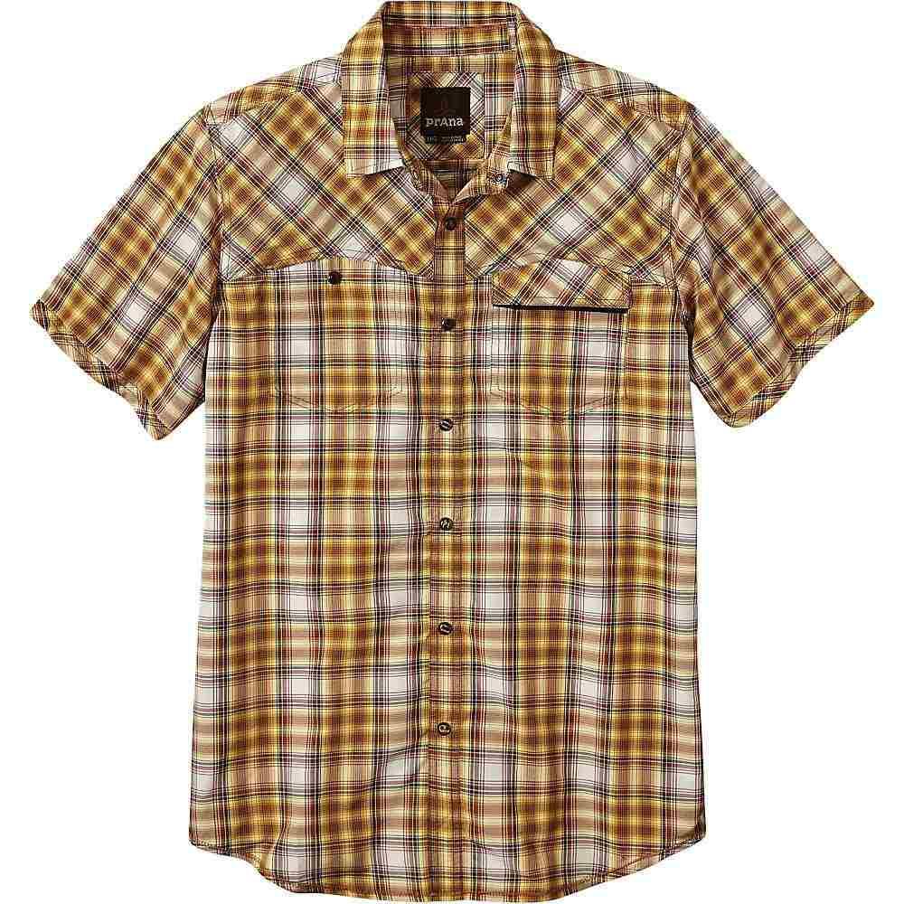 プラーナ Prana メンズ 半袖シャツ トップス【benson slim shirt】Yellow
