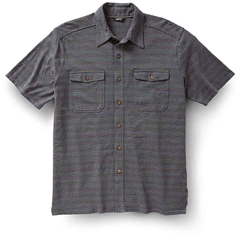 ロイヤルロビンズ Royal Robbins メンズ 半袖シャツ トップス【breeze thru stripe button front shirt】Slate