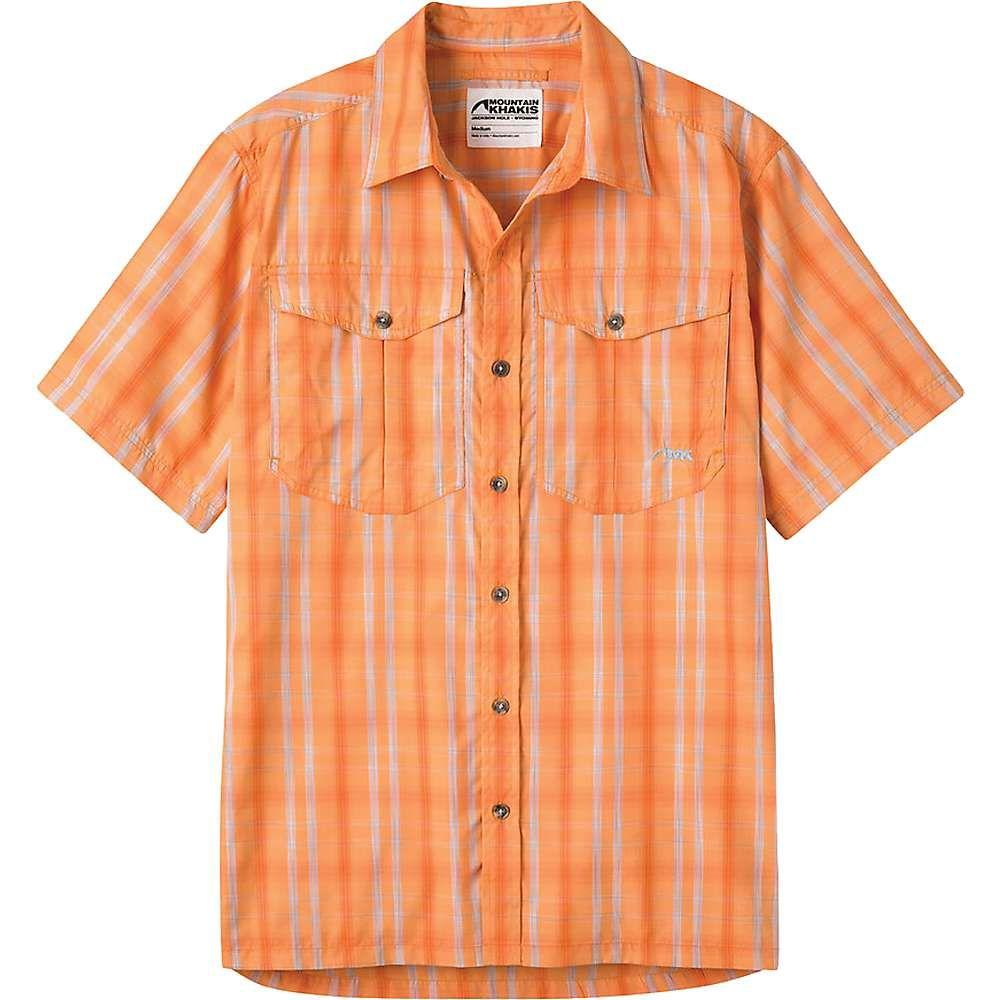 マウンテンカーキス Mountain Khakis メンズ 半袖シャツ トップス【equatorial ss shirt】Peachy
