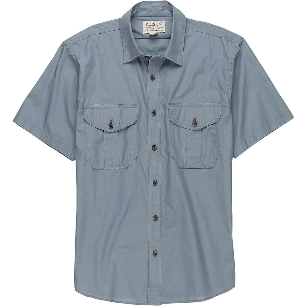 フィルソン Filson メンズ 半袖シャツ トップス【short sleeve feather cloth shirt】Smoke Blue