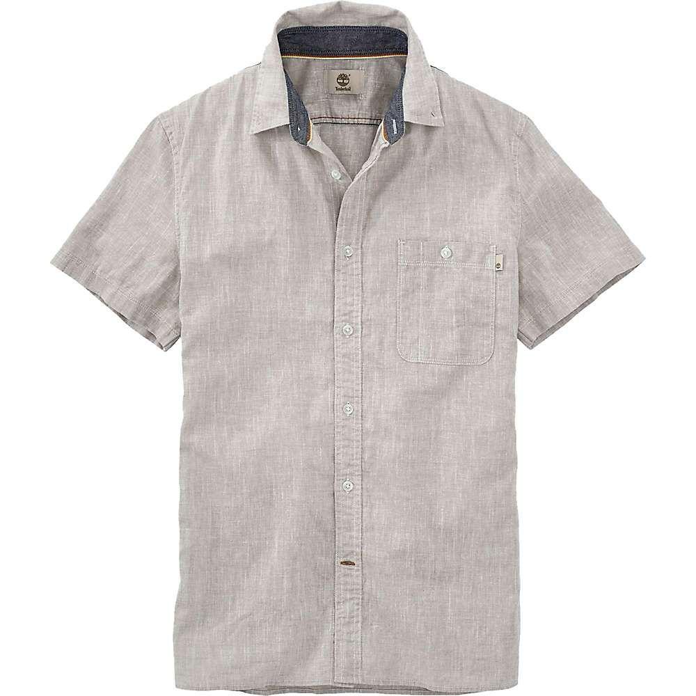 ティンバーランド Timberland Apparel メンズ 半袖シャツ シャンブレーシャツ トップス【timberland mill river cotton/linen chambray ss shirt】Paloma
