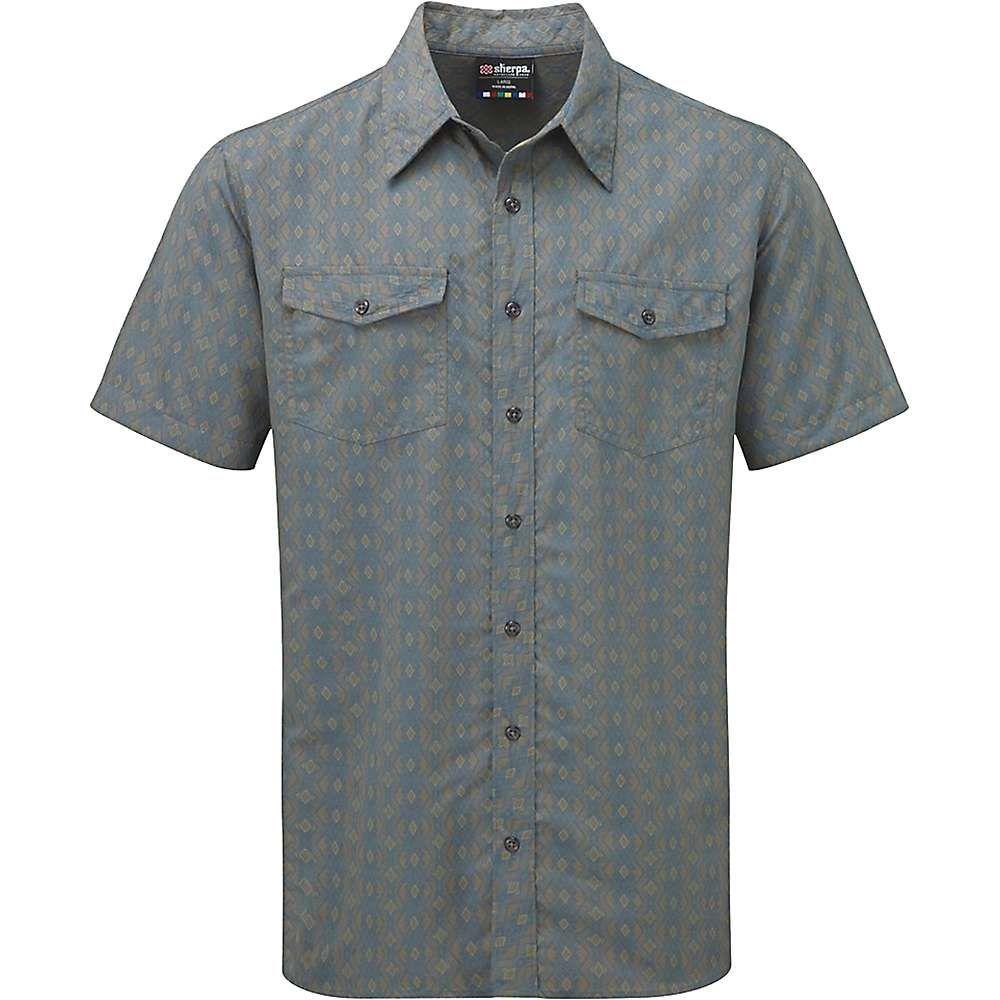 シェルパ Sherpa メンズ 半袖シャツ トップス【surya ss shirt】Monsoon Grey