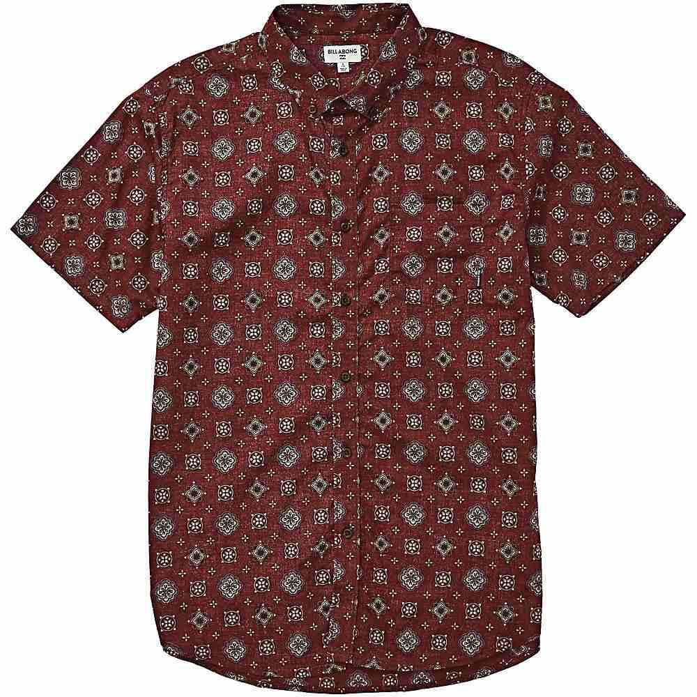 ビラボン Billabong メンズ 半袖シャツ トップス【sundays mini ss shirt】Oxblood