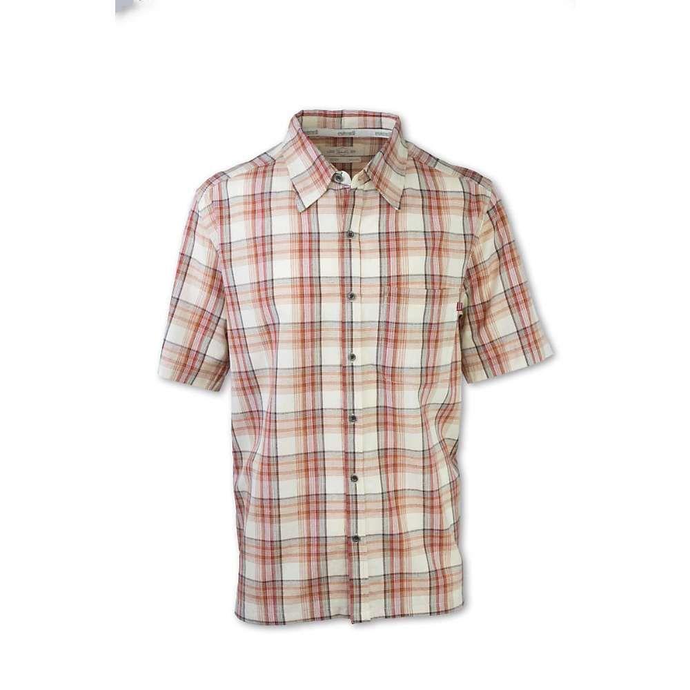 パーネル Purnell メンズ 半袖シャツ トップス【madras plaid ss shirt】Redwood/Brown