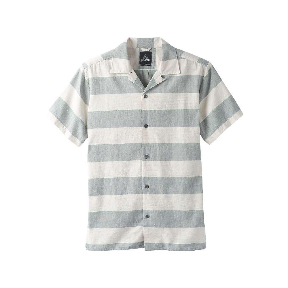 プラーナ Prana メンズ 半袖シャツ トップス【crocket camp shirt】White