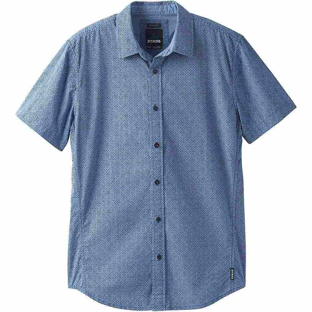 プラーナ Prana メンズ 半袖シャツ トップス【ulu shirt - standard】Steel Blue Geo