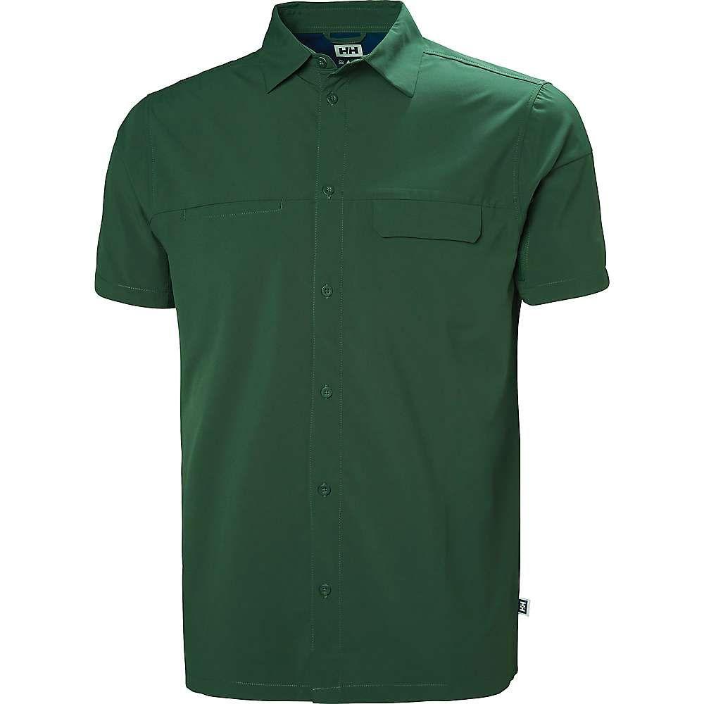 ヘリーハンセン Helly Hansen メンズ 半袖シャツ トップス【verven short sleeve shirt】JUNGLE GREEN