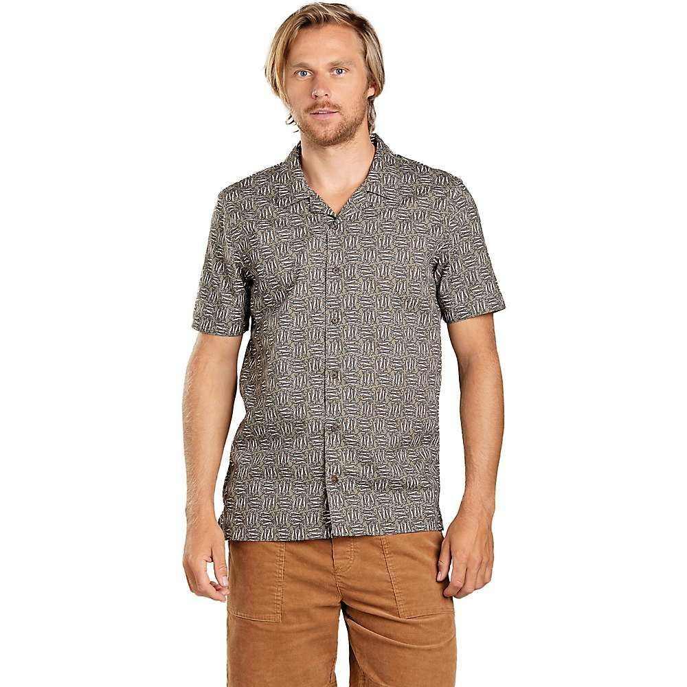 トードアンドコー Toad & Co メンズ 半袖シャツ トップス【harbour ss shirt】Falcon Brown Fish Print