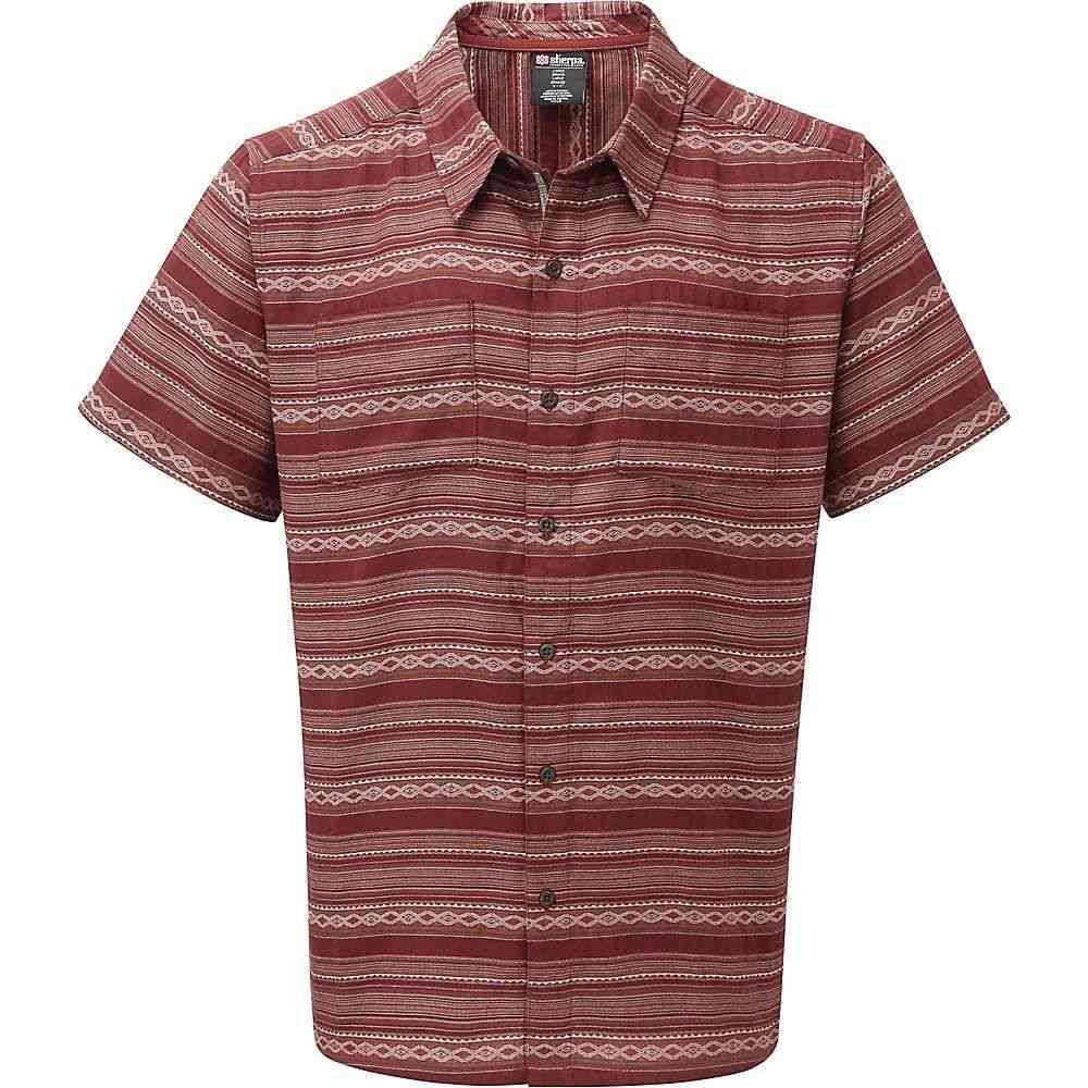 シェルパ Sherpa メンズ 半袖シャツ トップス【bhaku shirt】Potala Red
