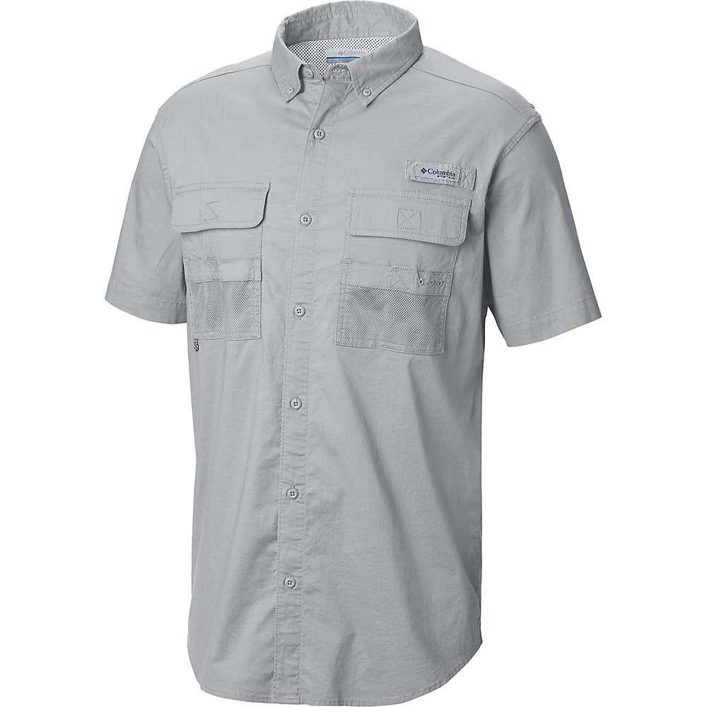 コロンビア Columbia メンズ ハイキング・登山 半袖シャツ トップス【half moon ss shirt】Cool グレー