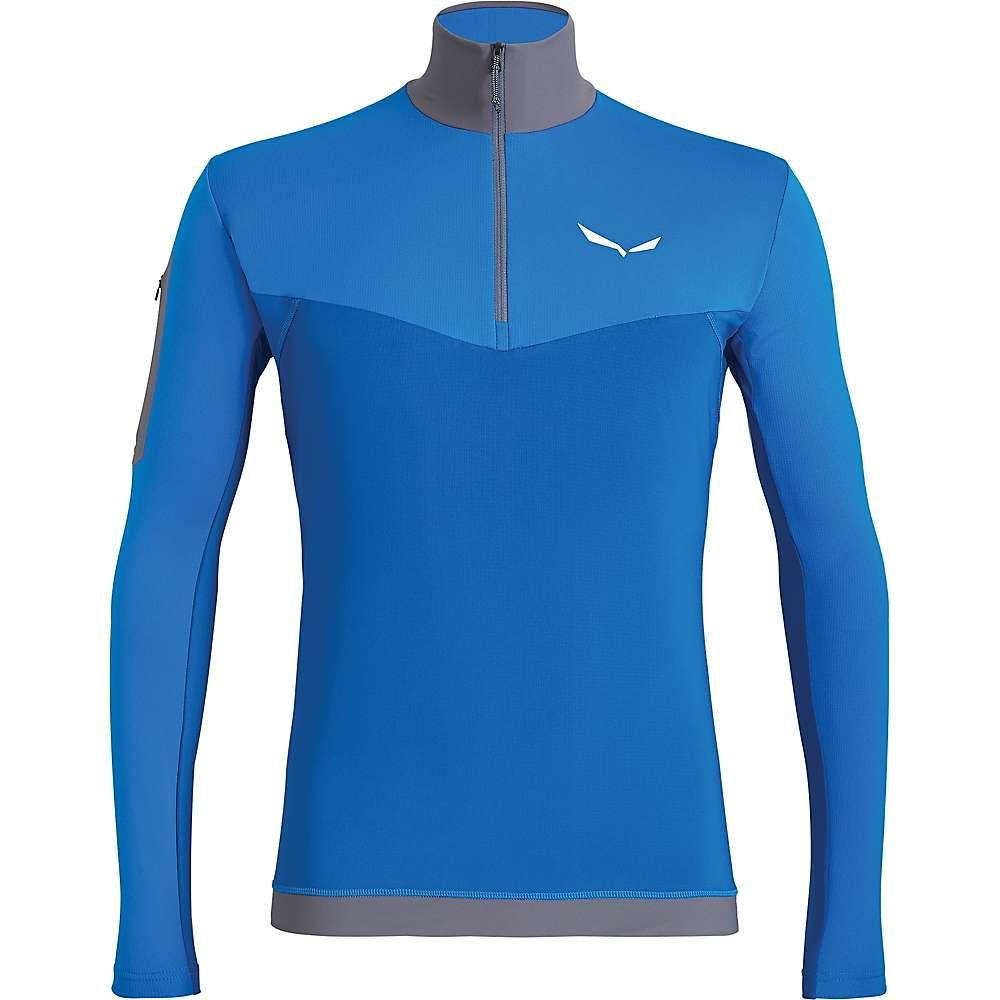 サレワ Salewa メンズ フィットネス・トレーニング Tシャツ トップス【ortles ls zip tee】Prince Blue