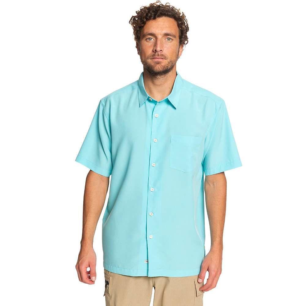 クイックシルバー Quiksilver メンズ 半袖シャツ トップス【cane island shirt】Blue Radiance