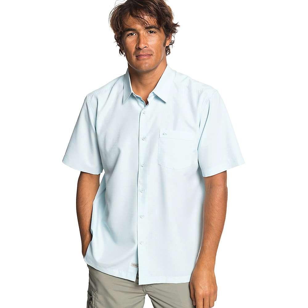 クイックシルバー Quiksilver メンズ 半袖シャツ トップス【centinela 4 shirt】Crystal Blue