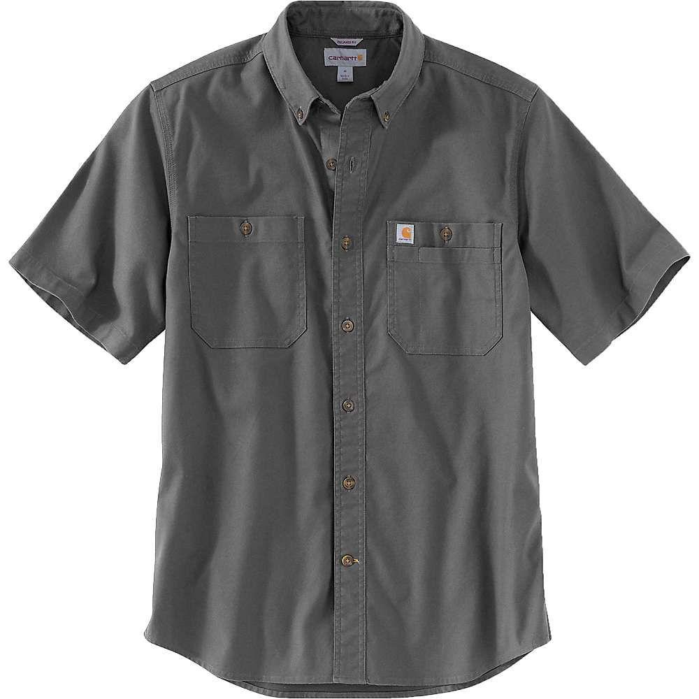 カーハート Carhartt メンズ 半袖シャツ トップス【rugged flex rigby ss work shirt】Gravel