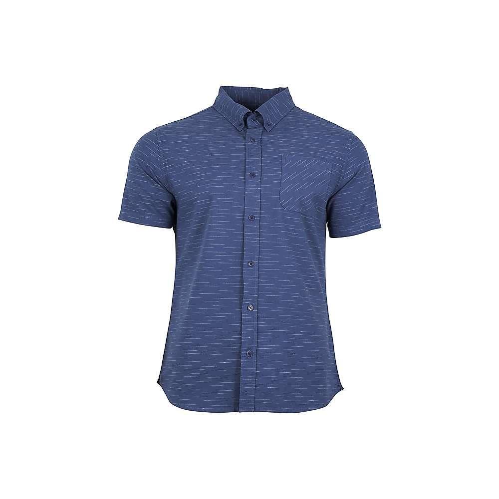 ユナイテッドバイブルー United By Blue メンズ 半袖シャツ トップス【coastline ss button down shirt】Blue