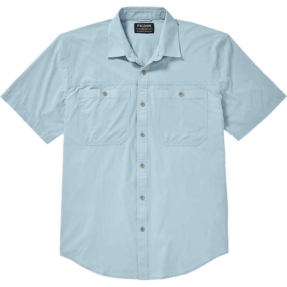 フィルソン Filson メンズ 半袖シャツ トップス【alagnak ss shirt】Gulf Blue