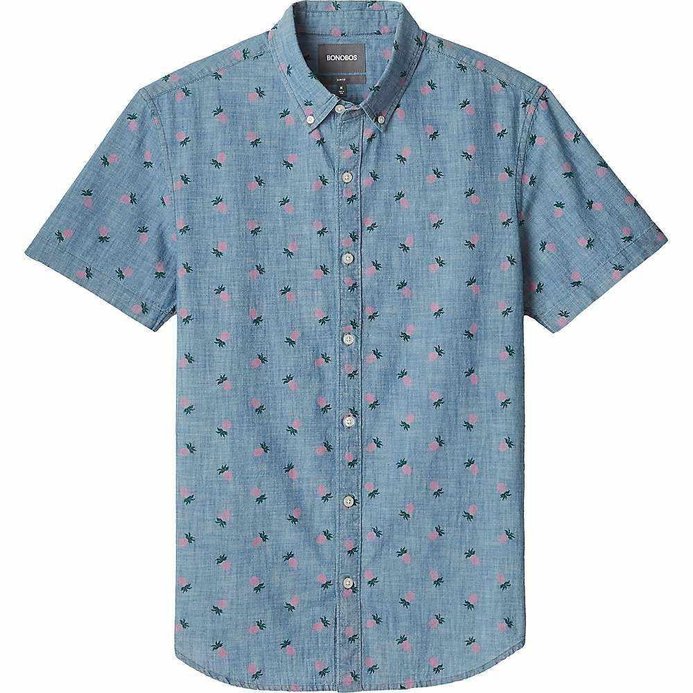 ボノボス Bonobos メンズ 半袖シャツ トップス【riviera shirt】Pineapple Drive/Pink Gin