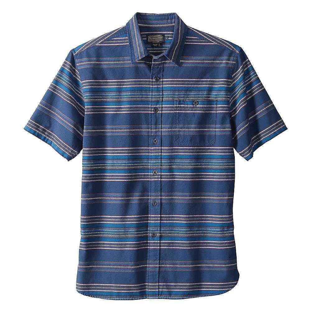 ペンドルトン Pendleton メンズ 半袖シャツ トップス【short sleeve kay street novelty stripe shirt】Indigo Stripe