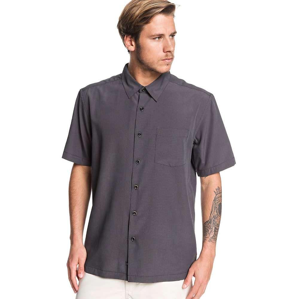 クイックシルバー Quiksilver メンズ 半袖シャツ トップス【cane island shirt】Black Cane Island