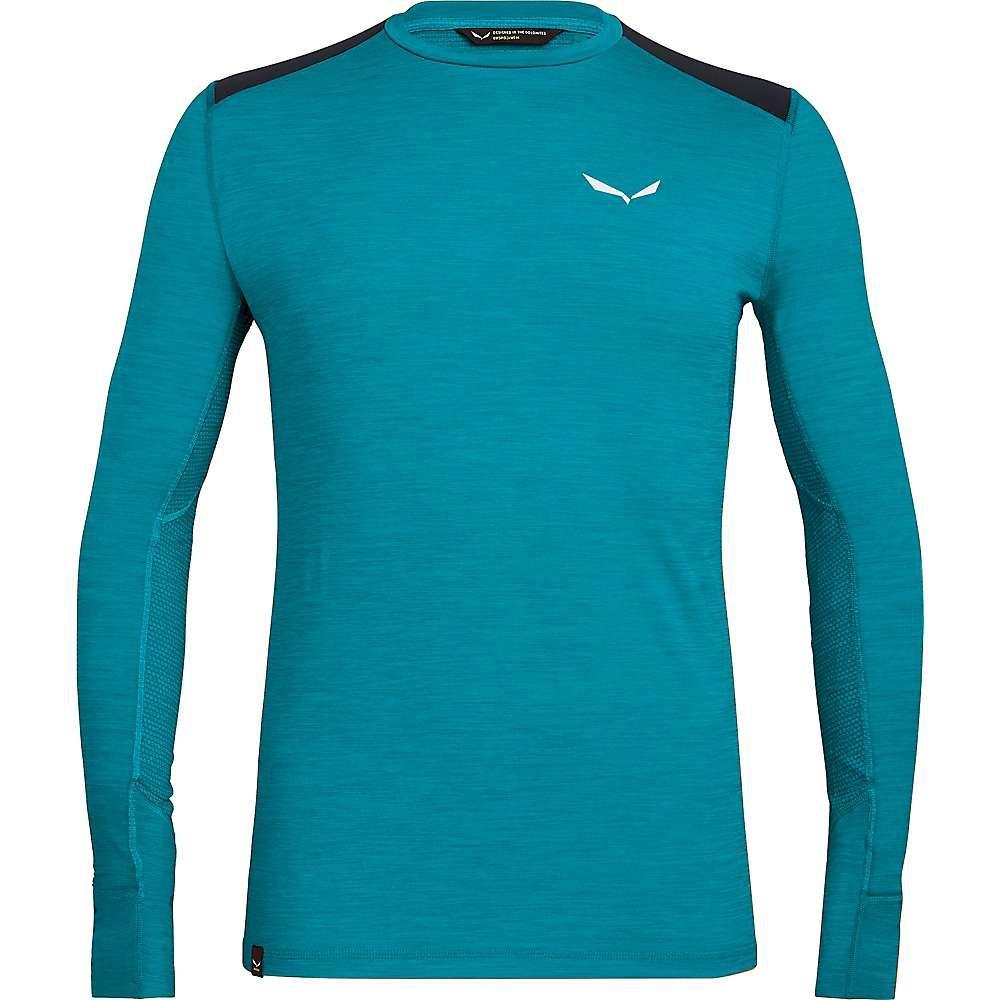 サレワ Salewa メンズ フィットネス・トレーニング Tシャツ トップス【pedroc hybrid dry ls tee】Ocean Melange
