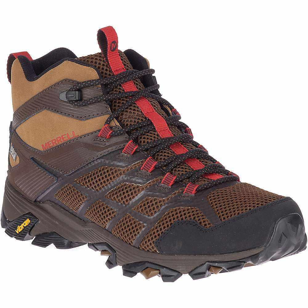 メレル Merrell メンズ ハイキング・登山 シューズ・靴【moab fst 2 mid waterproof shoe】Earth