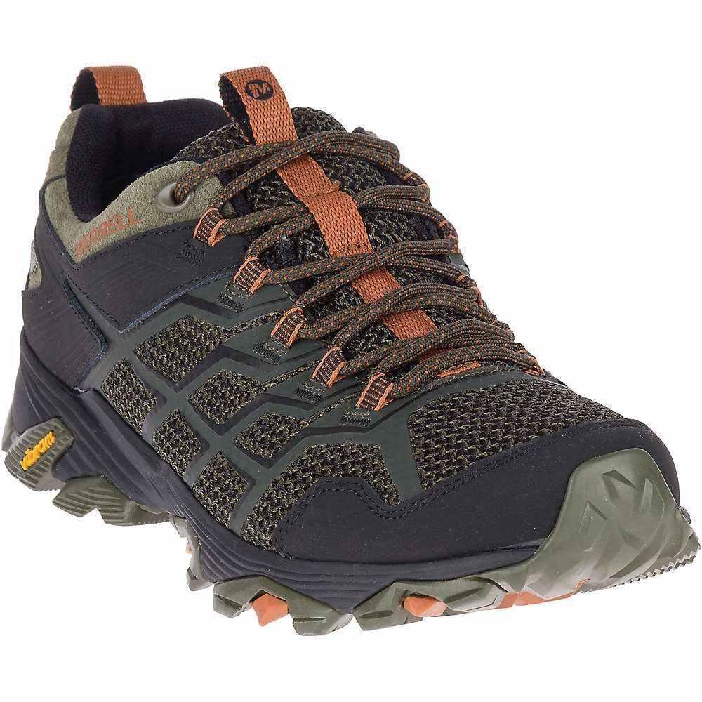 メレル Merrell メンズ ハイキング・登山 シューズ・靴【moab fst 2 mid waterproof shoe】Olive/Adobe